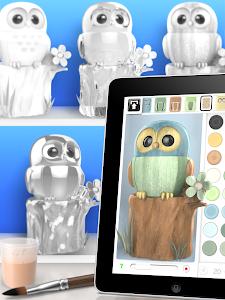 screenshot of ColorMinis Kids - Color & Create real 3D art version 4