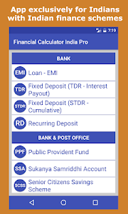 screenshot of Financial Calculator India version 4.4