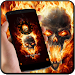 Flame theme burn fire skull