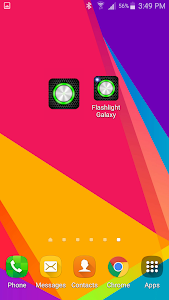 screenshot of Flashlight Galaxy version Varies with device