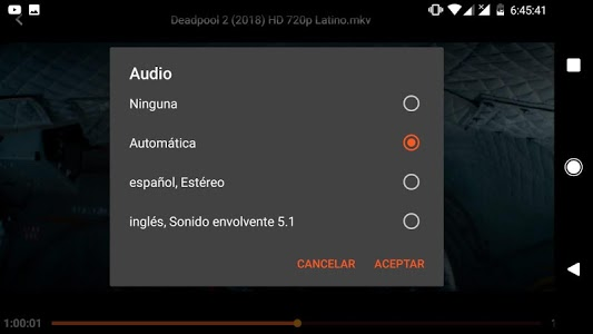 screenshot of Flix Player for Android version 1.1.4