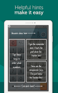 screenshot of Fraction Calculator Plus Free version Varies with device