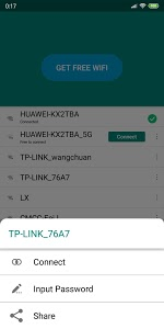 screenshot of Free WiFi password finder and share version 1.1.3