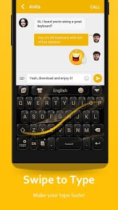 screenshot of GO Keyboard - Cute Emojis, Themes and GIFs version 3.60