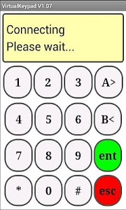 screenshot of Galaxy Alarm VirtualKeypad version 2.12