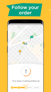 screenshot of Glovo-Order Anything. Food Delivery and Much More version 5.22.1