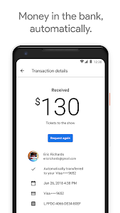 screenshot of Google Pay Send version 22.0.201457726