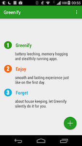 screenshot of Greenify version Varies with device