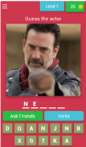 screenshot of Guess The Actor From The Walking Dead version 4.1.0z