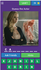 screenshot of Guess the Actors from TVD version 4.1.0z