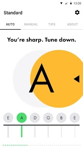 screenshot of Guitar Tuner Free - Fender Tune version Varies with device