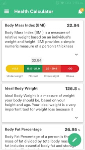 screenshot of Health & Fitness Tracker with Calorie Counter version Varies with device