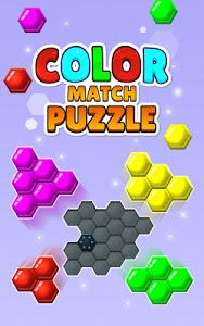 screenshot of Color Match Puzzle - Fill the Hexa Board version 8.03