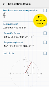 screenshot of HiPER Scientific Calculator version 5.0.3