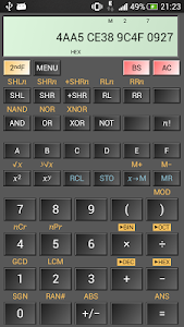 screenshot of HiPER Scientific Calculator version 3.1