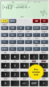screenshot of HiPER Scientific Calculator version 4.5.4