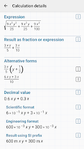 screenshot of HiPER Scientific Calculator version 7.0.1