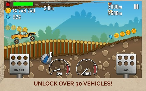 screenshot of Hill Climb Racing version 1.45.2