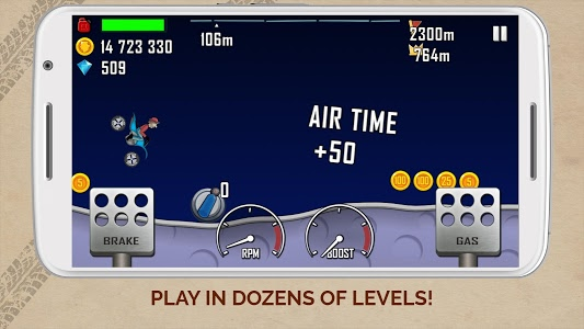 screenshot of Hill Climb Racing version 1.40.0