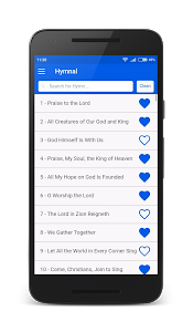 screenshot of SDA Hymnal version 0.2.24