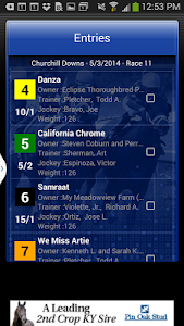 screenshot of Horse Races Now version 1.5.20