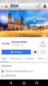 screenshot of Humana Radio version 9.2