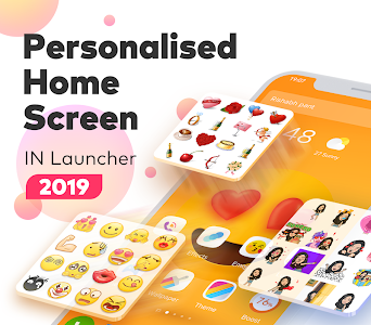 screenshot of IN Launcher - Love Emojis & GIFs, Themes version 1.2.6
