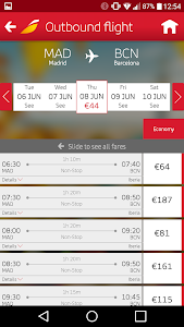 screenshot of Iberia version 7.4.12