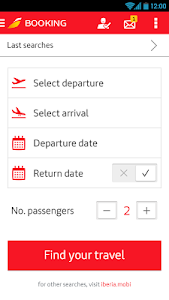 screenshot of Iberia version 7.1.0
