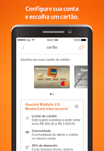 screenshot of Itaú abreconta version 1.0.97