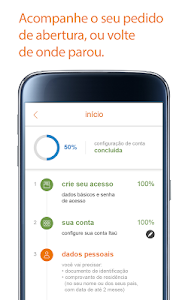 screenshot of Itaú abreconta version 1.0.51