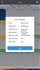 screenshot of Kmart Team App version 3.1.9