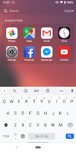 screenshot of Launcher iOS 13 version 1.4.2