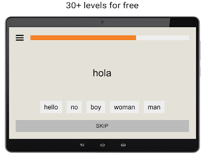 screenshot of Learn Spanish words free with uLexicon version 1.8.2