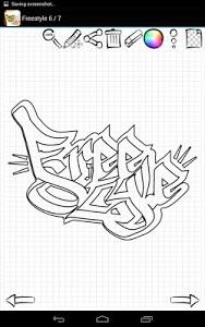 screenshot of Learn to Draw Graffiti Art version 1.01