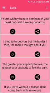 screenshot of Love Quotes version 3.2.1