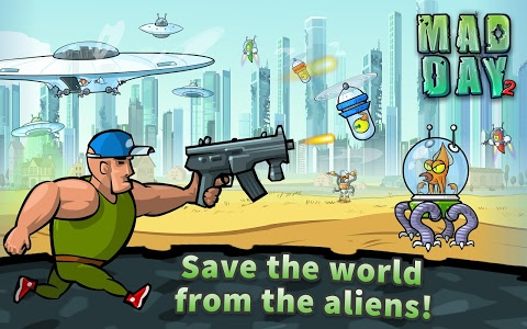 screenshot of Mad Day 2: Shoot the Aliens version 2.0
