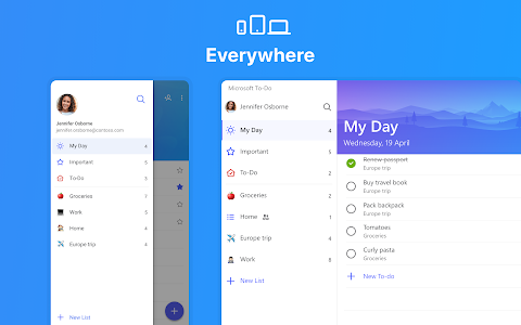screenshot of Microsoft To-Do: List, Task & Reminder version Varies with device