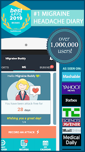 screenshot of Migraine Buddy - The Migraine and Headache tracker version 30.2.1