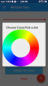 screenshot of ML Color Text version 4.0.1