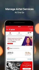 screenshot of My Airtel-Recharge, Pay Bills, Bank & Avail Offers version 4.3.10.3