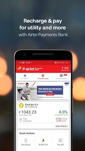 screenshot of My Airtel-Recharge, Pay Bills, Bank & Avail Offers version 4.3.14.1