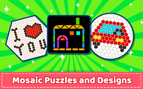 screenshot of Mosaic Puzzles Art Game - Block Beads & Hex Puzzle version 1.6