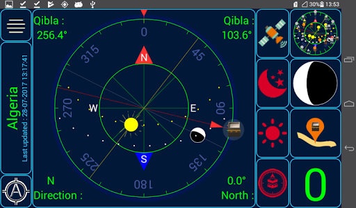 screenshot of Qibla (Qibla direction & prayer times) version 3.6.5