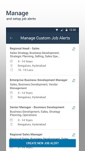 screenshot of Naukri.com Job Search version 11.1