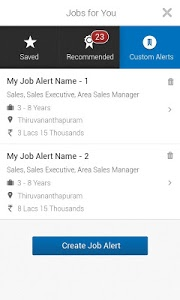 screenshot of Naukri.com Job Search version 5.2