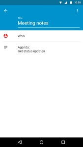 screenshot of Notes by BlackBerry version 1.6.2.16333