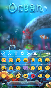 screenshot of Ocean Animated Keyboard + Live Wallpaper version 2.32