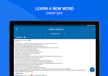 screenshot of Oxford Dictionary of English : Free version 10.0.416