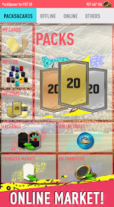 screenshot of Pack Opener for FUT 20 by SMOQ GAMES version 3.17